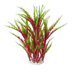 FRF-411 AQUARIUM PLASTIC PLANT RED & GREEN
