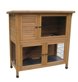 "LB-314 46"" HUTCH & RUN SOLID BASE 115x55x116cm"