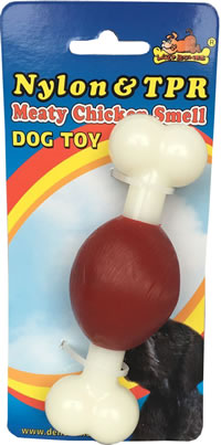 LB-364 NYLON & TPR FLAVOURED DOG TOYS