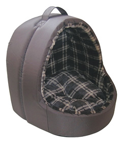 "LB-391 HOODED CAT BED 17.3"" (44cm)"