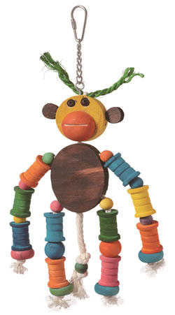 LB-86 MONKEY SHAPE PARROT TOY 22 x 14cm