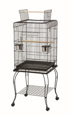 LB-B38 OPEN TOP BIRD CAGE & STAND 51 x 51 x 128cm