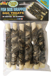 LB-191 12.5cm FISH SKIN WRAPPED TWIST STICKS 10pcs
