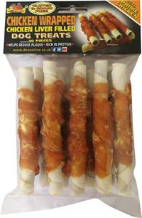 LB-198 12.5cm CHICKEN WRAPPED CHICKEN LIVER FILLED TWISTS 10pcs
