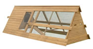 LB-332 CHICKEN HOUSE & RUN 236x88x76cm
