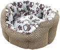 LB-394 JET SET CAT BED WITH PAW PRINT 18""