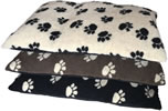 LB-423 PAW PRINT FLEECE CUSHION 99 X 71 CMS ASSORTED COLOURS