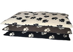 LB-428 PAW PRINT DOG FLEECE PAD 99CMX72CM ASS COLOURS